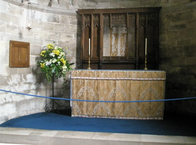 Altar in the chapel reserved for private prayer at Romsey Abbey