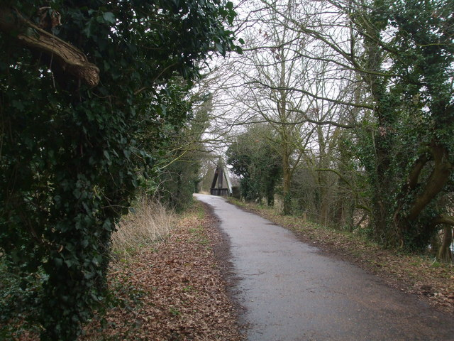 Marriot's Way footpath looking towards the A frame bridge