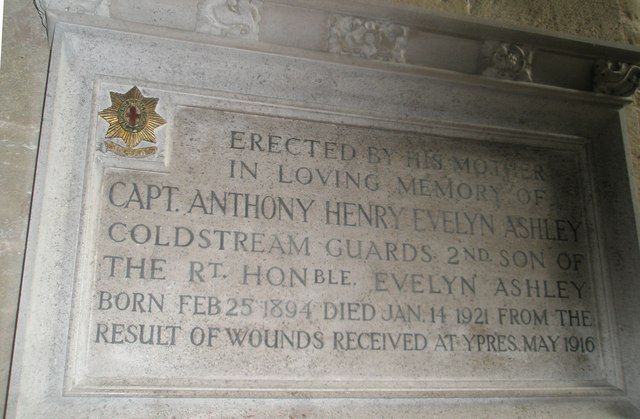 Memorial to a long suffering son at Romsey Abbey