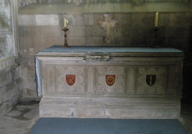 Altar in the chapel dedicated to Mary at Romsey Abbey