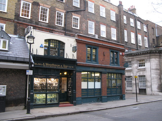 Shops in Carey Street, WC2