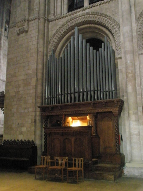 The organ at Romsey Abbey