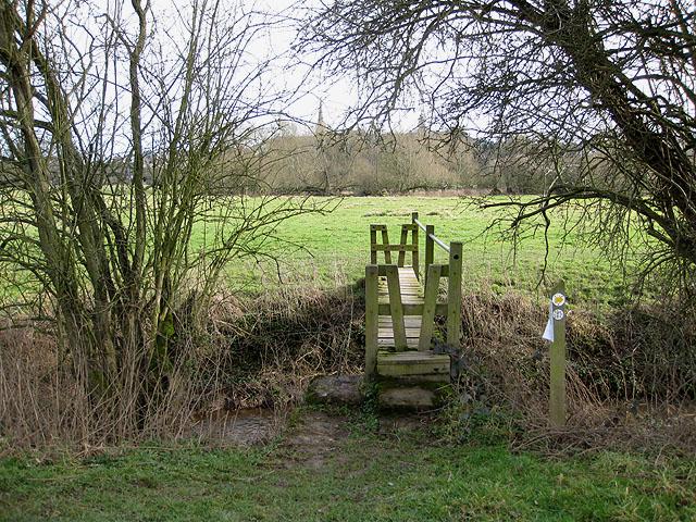 Footbridge over Wells Brook