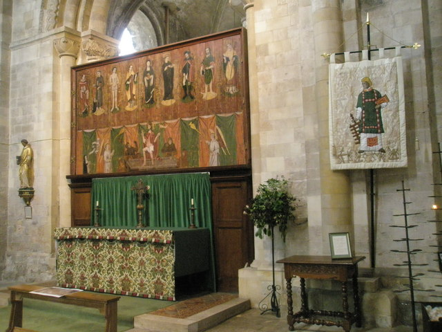The altar in St Lawrence's Chapel at Romsey Abbey