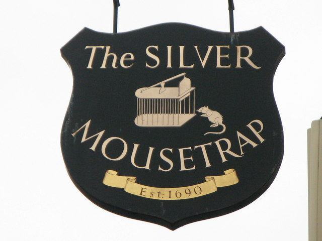 Sign for The Silver Mousetrap