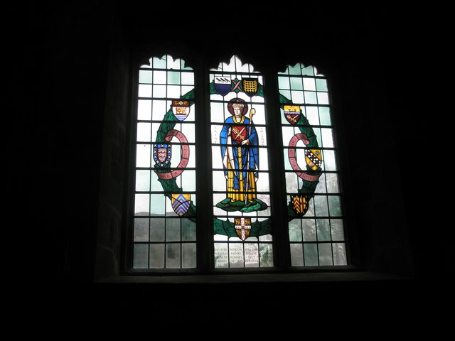 Delightful stained glass window in Romsey Abbey