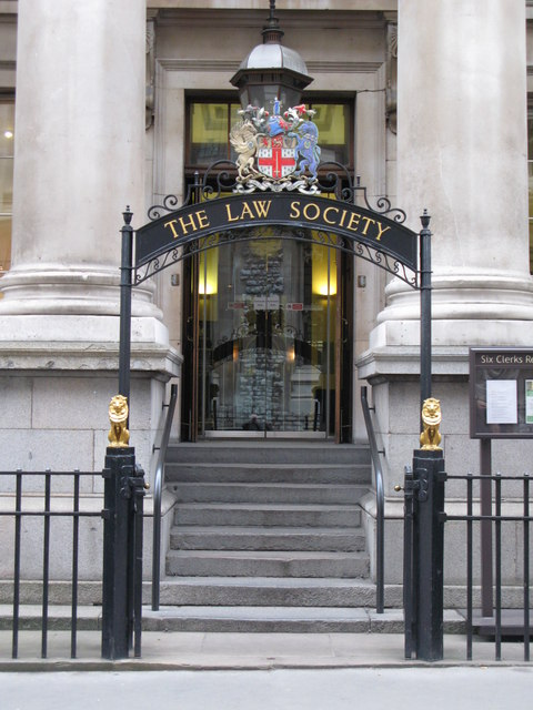 Entrance of The Law Society building, Chancery Lane, WC2