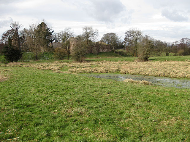 Water meadows near Wilton Castle