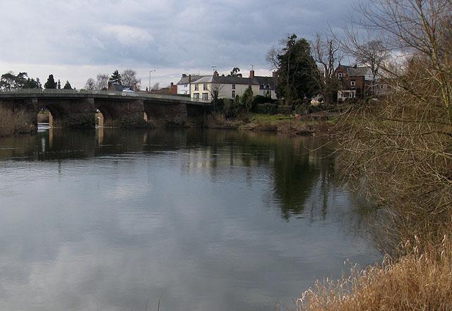 River Wye passing under Wilton Bridge