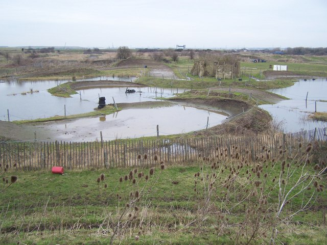 Flooded off-road motorbike course