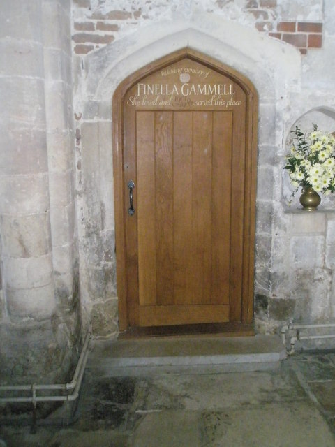 Memorial door in the south transept at Romsey Abbey