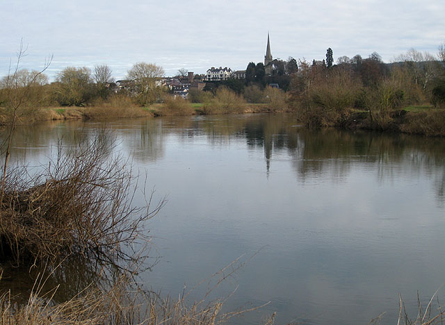 February view across the Wye to Ross