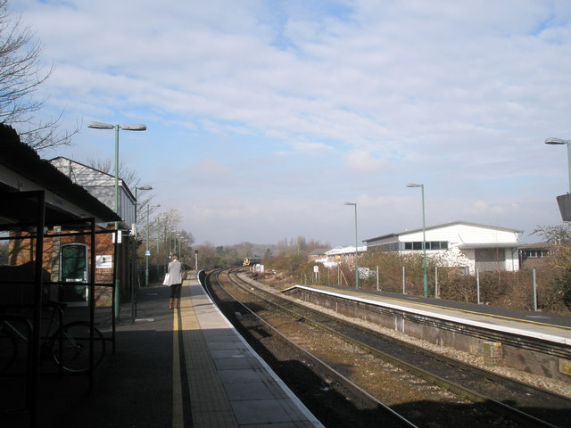 View westwards from Romsey Railway Station