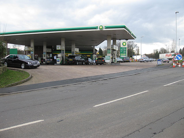 Filling station off the A40 roundabout