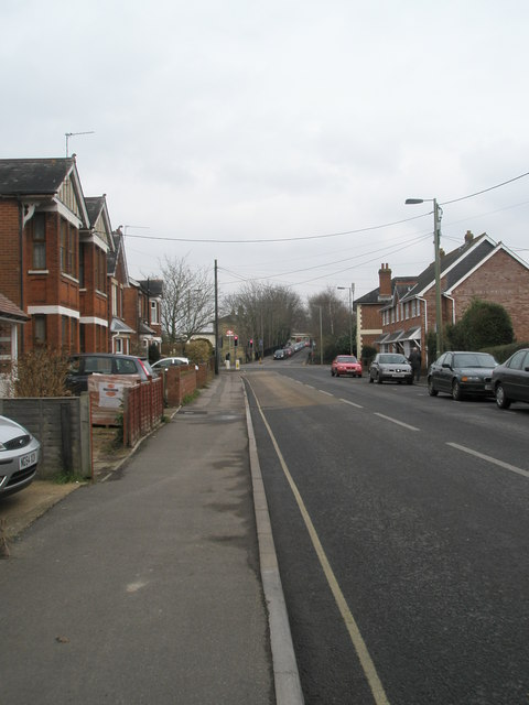 Looking north-west up  Station Road