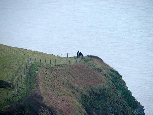 Walkers on the Ceredigion Coastal Path