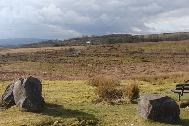 Penderyn Common, with Bryn-cul in the background
