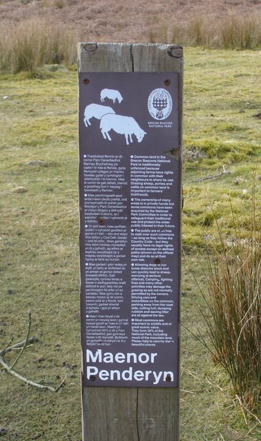 Sign at Penderyn Common