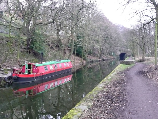 Barge on the Rochdale Canal, Sowerby Bridge