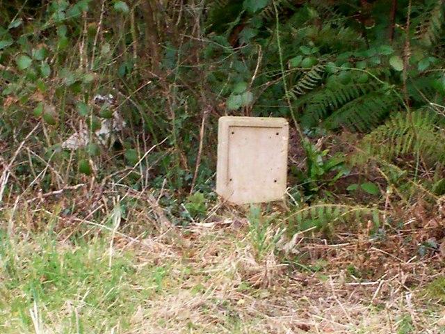 Water Hydrant Sign - The Folly, Llanteg
