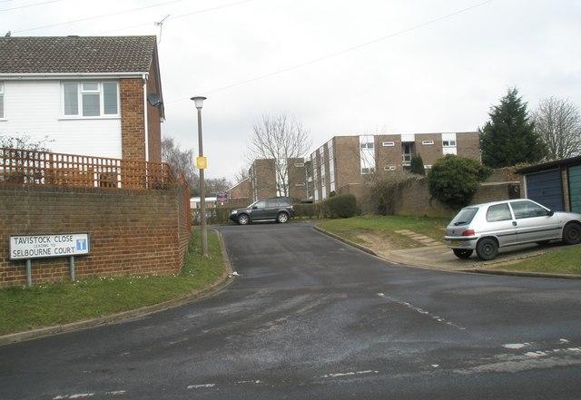 Junction of Winterbourne Road and Tavistock Close