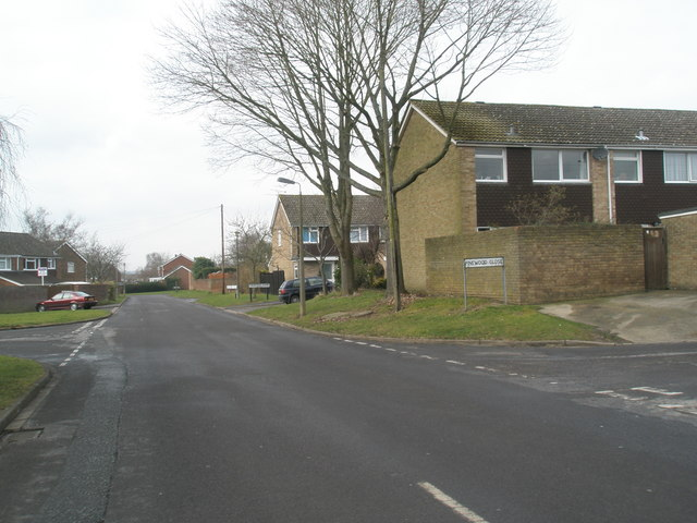 Junction of Winterbourne Road and Pinewood Close