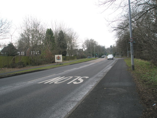 Romsey town boundary on the Winchester Road