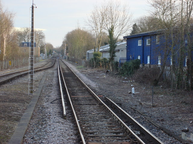 Railway line to the south of Hampton Court station