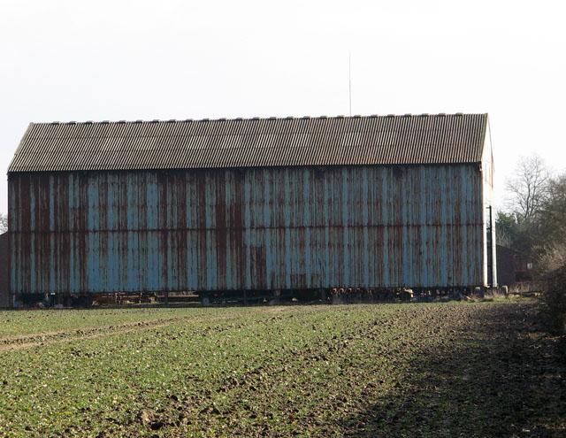 Large blue shed