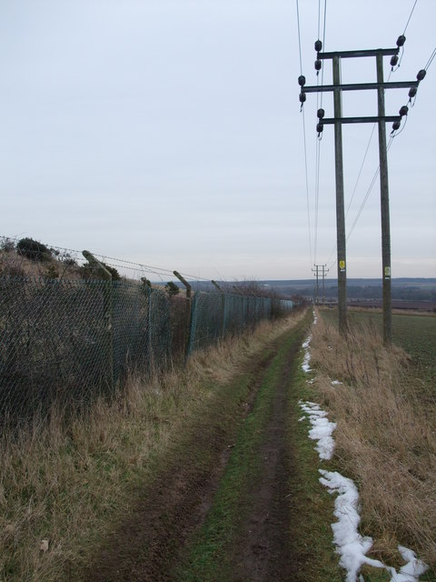 Footpath alongside the Welbeck Colliery spoilheap