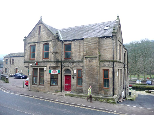 The Post Office and former library, Burnley Road, Luddenden Foot