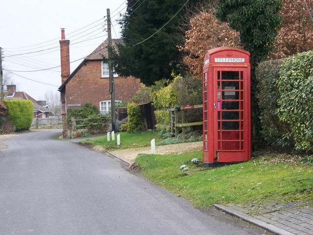 Telephone box, Homington