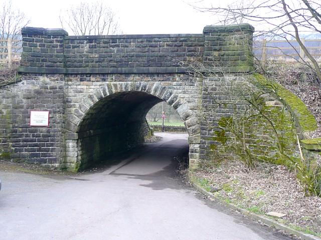 Railway bridge at Wheatley Royd Farm, Mytholmroyd