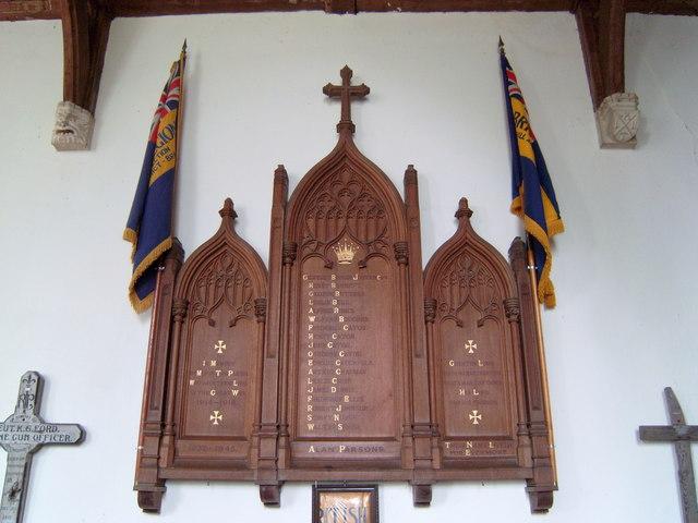 Ashill War Memorial, St. Nicholas Church.
