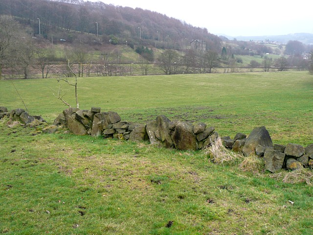 Wall of boulders, Mytholmroyd