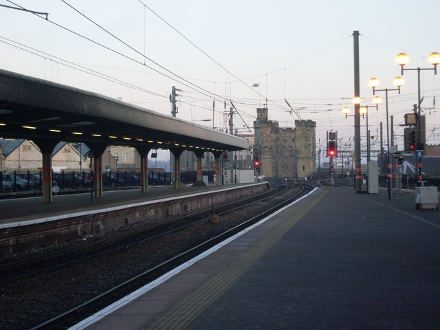 Platforms at Newcastle Central station