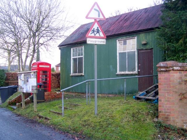 Club and telephone box, Charlton all Saints