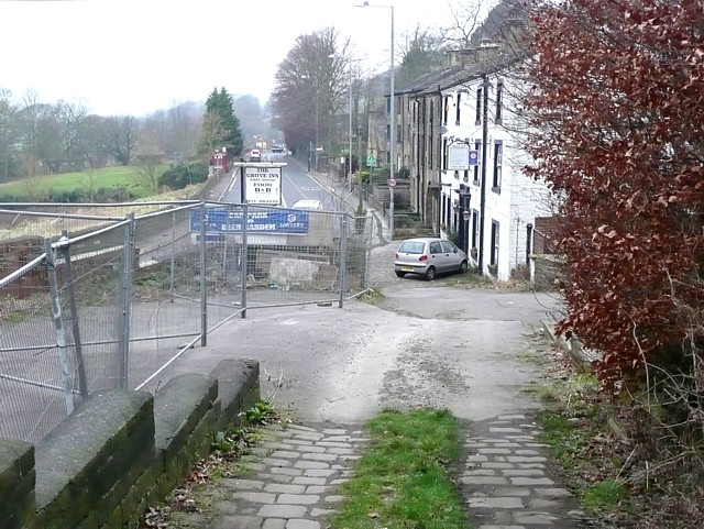 The Grove Inn and Burnley Road, Brearley, Mytholmroyd