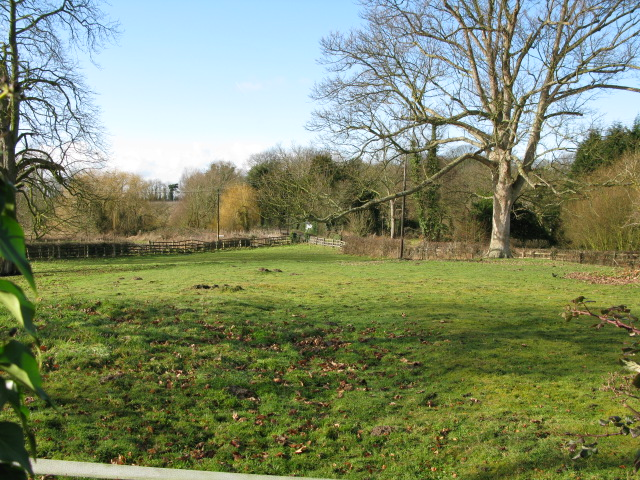 View across field to the W of Elmstone church