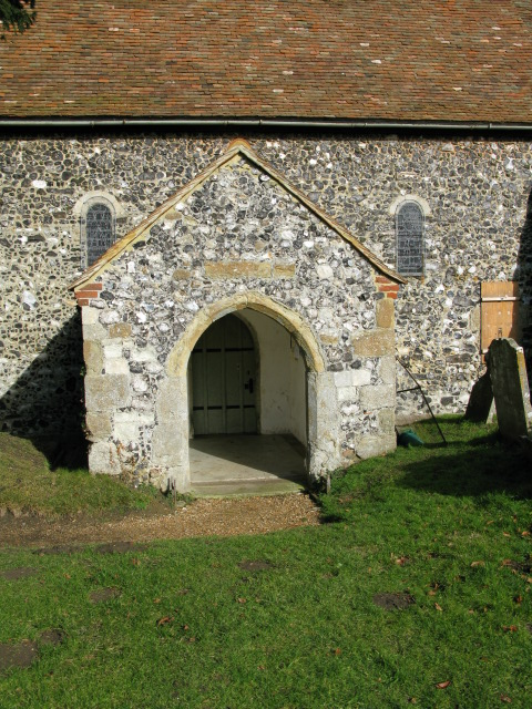 Porch on S of Elmstone church