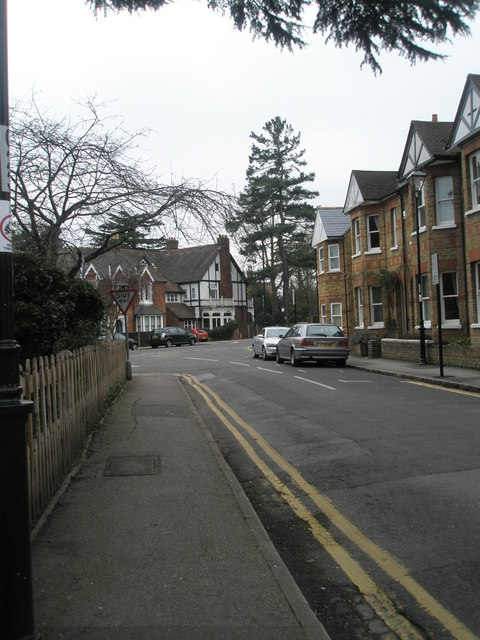 Looking down Alexandra Road towards the junction with Frances Road