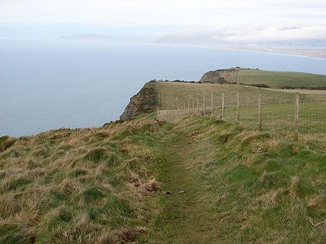 The Ceredigion Coastal Path south of Borth