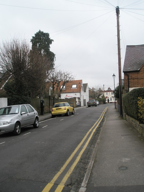 Looking along Beaumont Road towards the junction with St Leonard's Road