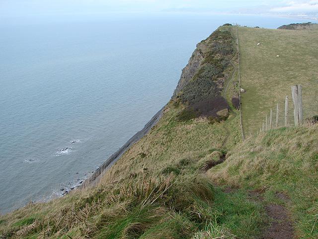 The Ceredigion Coastal Path above Craig Y Delyn