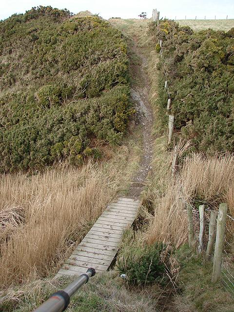 Footbridge on the Ceredigion Coastal Path