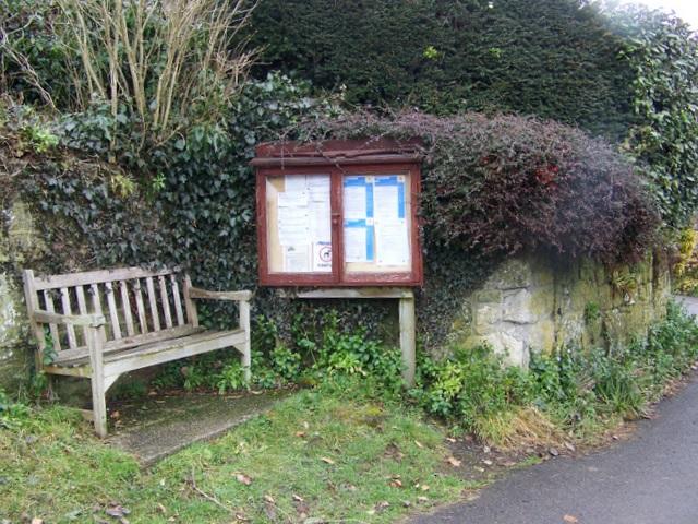 Notice board, Donhead St Mary