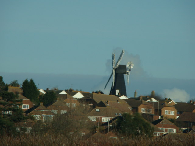 Herne Mill, viewed from the A299 eastbound