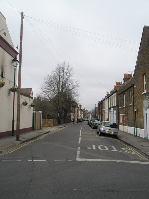 Looking across the crossroads of Alexandra and Grove Roads