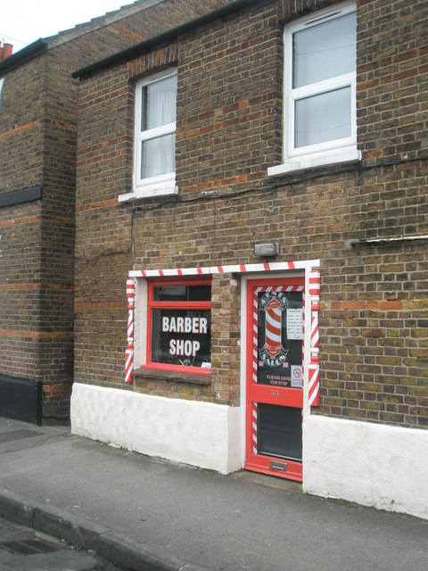 Traditional barber's shop in Alexandra Road