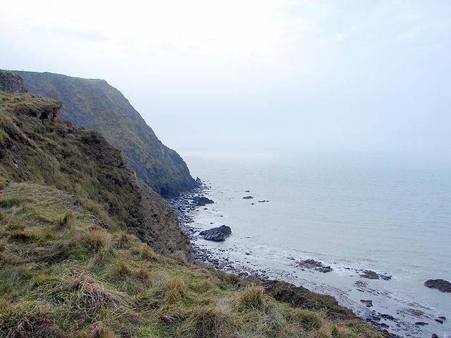 The coast south of Borth